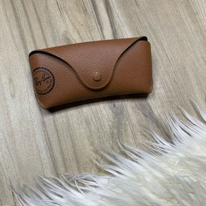 Ray Ban Brown Pebbled Leather Sunglass Case
